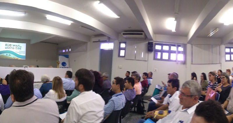 Direção do Sindágua/RN acompanha reunião do PPR 18/19 em Mossoró/RN