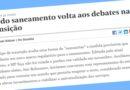 Equipe de transição do governo Bolsonaro quer 'ressuscitar' MP do Saneamento