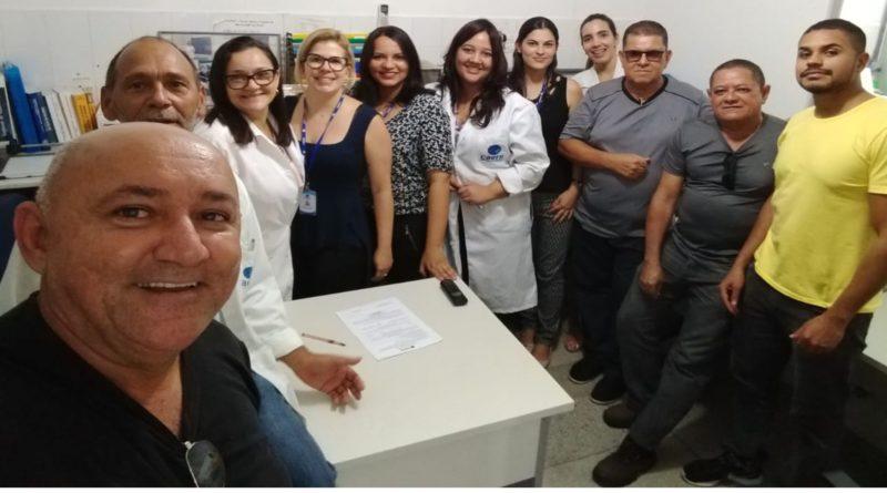 Reunião com os trabalhadores do Laboratório Central da CAERN