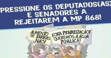 NÃO À MP 868/18 da Sede e da Conta Alta: vamos cobrar dos parlamentares