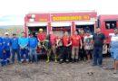 Caernianos combatem incêndio em sucata de Pau dos Ferros