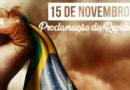 Dia da Proclamação da República é feriado nacional. Não haverá expediente no Sindágua/RN