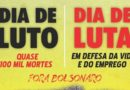 Dia de Luto! Dia de Luta! Fora Bolsonaro!